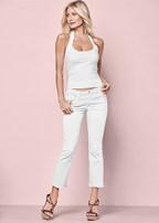 frayed hem crop jeans