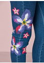 Detail view Painted Floral Skinny Jeans