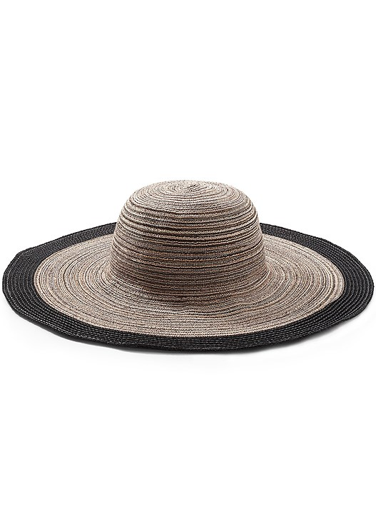 FLOPPY STRAW HAT,SOFIA BRA TOP,LEILA HIGH WAIST BOTTOM