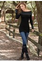 Front view Cable Detail Tunic Sweater