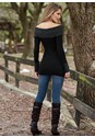 Back view Cable Detail Tunic Sweater