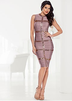 slimming sparkle dress