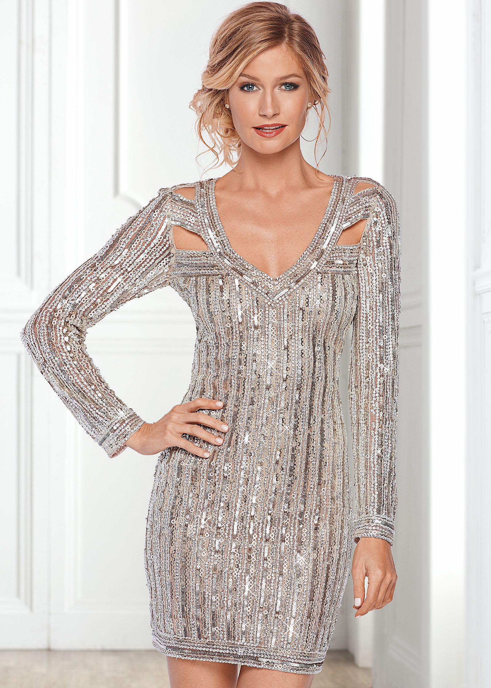 Sequined Cocktail and Party Dresses