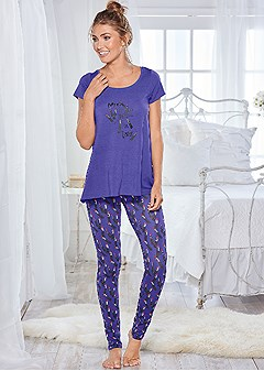 graphic legging pajama set