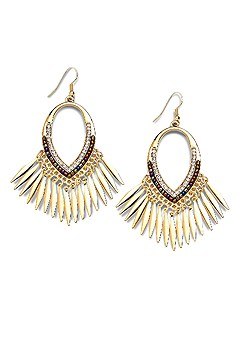 hoop tassel drop earrings