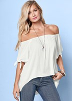 tie off the shoulder blouse