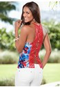 Front view Print Button Up Halter