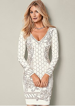 textured beaded dress