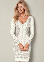 textured beaded dress