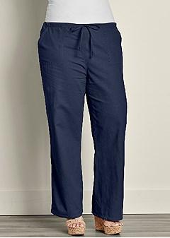 plus size drawstring pants 30 inseam