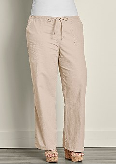 plus size drawstring pants 30 inseam