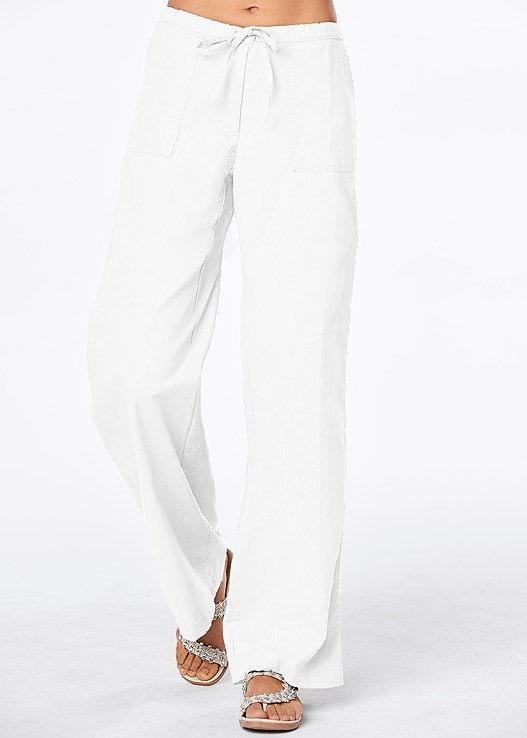 58ee8142ee DRAWSTRING PANTS 30 INSEAM in White | VENUS