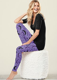 printed sleep leggings
