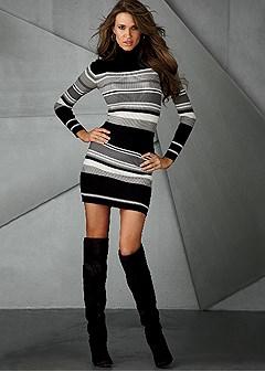 Turtleneck Sweater Dress In Venus